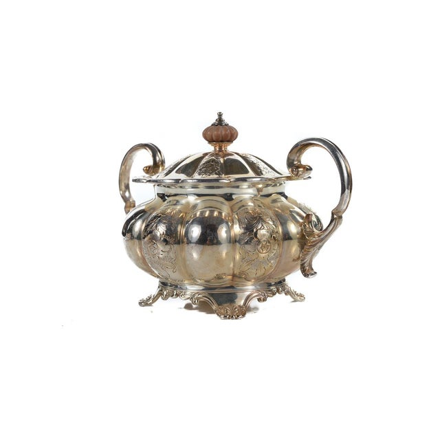 Image of Antique Victorian 7 Pieces Silver Plated Tea Set