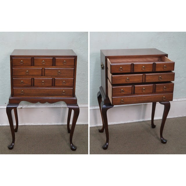 Image of Hickory Chair Mahogany Queen Anne Silver Chest