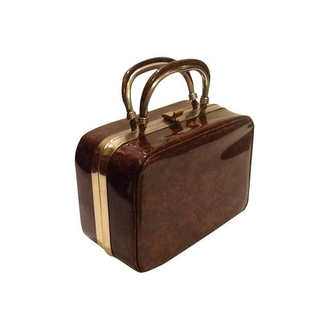 Image of Vintage Faux Tortoise Box Purse