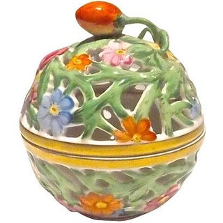 Herend Porcelain Floral Bonbonniere