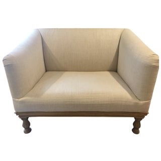 Restoration Hardware Burnt Oak Couch in Linen