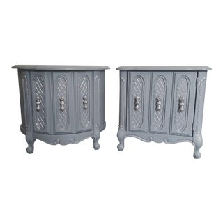 Gray & Silver End Tables - A Pair
