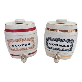 Scotch & Cognac Ceramic Jug Containers- Set of 2