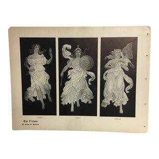 Art Nouveau Print of the 'Virtues'