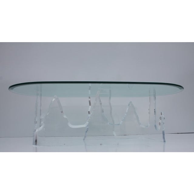 Lion in Frost Vintage Lucite Iceberg Coffee Table - Image 9 of 9