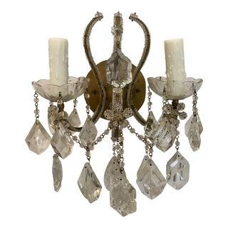 Italian Crystal Beaded Sconce by Feldman Lighting