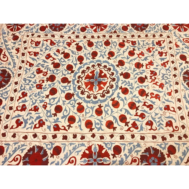 Handmade Suzani Bedspread / Table Cover - Image 5 of 6