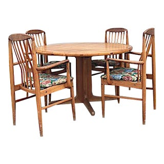 Scan Design Mid Century Teak Dining Set
