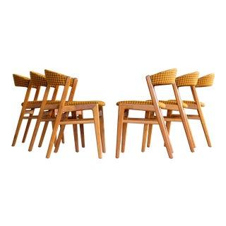 Danish Mid Century Kai Kristiansen Style Dining Chairs - Set of 6