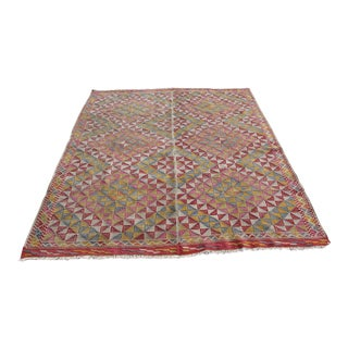 Vintage Turkish Kilim Rug - 5′11″ × 8′5″