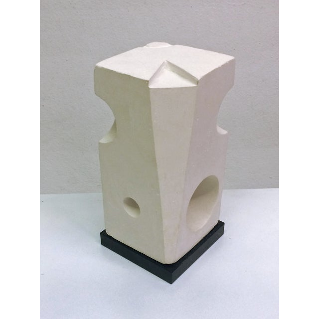 Image of White Plaster Geometric Sculpture