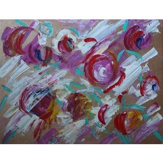 """Tumbling"" Acrylic Abstract Painting"
