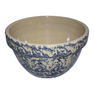 Early 20th Century Spongeware Mixing Bowl