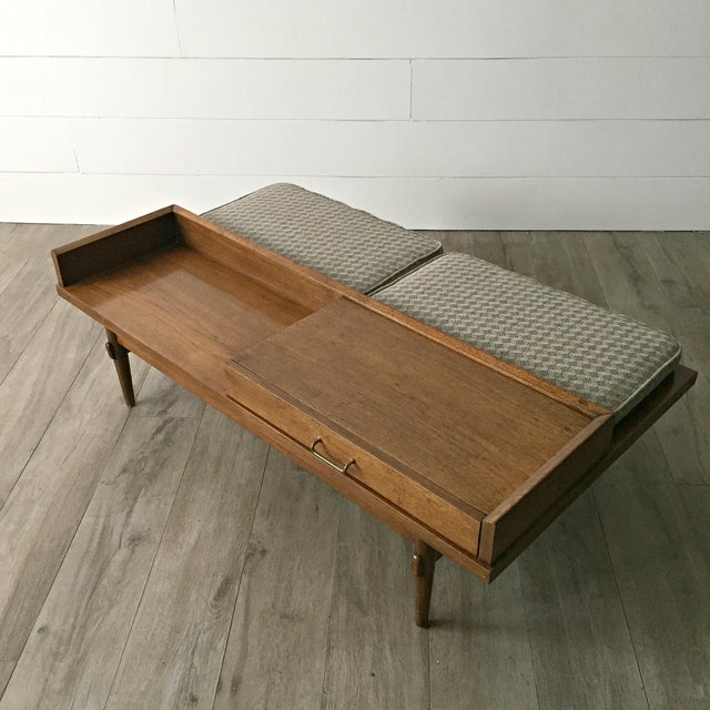 Merton L. Gershun for American of Martinsville Mid-Century Modern Coffee Table Bench - Image 2 of 9