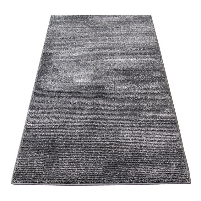 Black & Gray Stripe Rug - 3′ × 5′ - Image 1 of 5