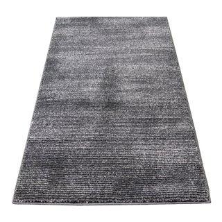 Black & Gray Stripe Rug - 3′ × 5′
