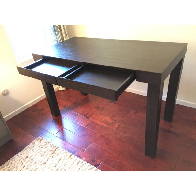 West Elm Espresso Parsons Desk Chairish