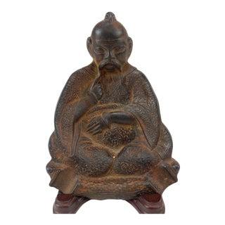 Antique Chinese Solid Bronze Buddha Ashtray