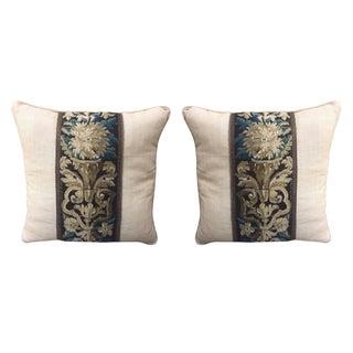 Custom Tapestry & Linen Pillows - A Pair