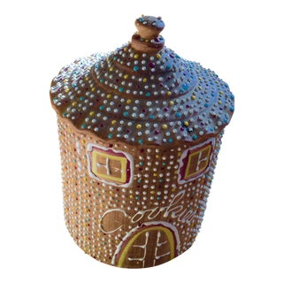 Vintage Ginger Bread House Cookie Jar - Italy