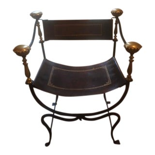 Antique Italian Savonarola Chair