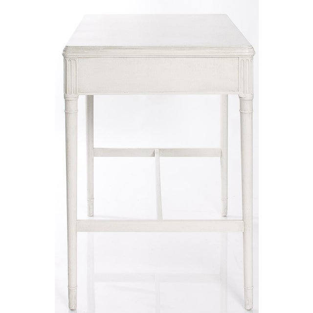 1940s Newly Refinished White Painted Writing Desk/ Vanity by Widdicomb - Image 5 of 7