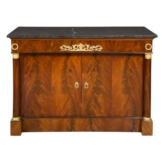 Empire Gilt-Bronze Mounted Mahogany Side Cabinet