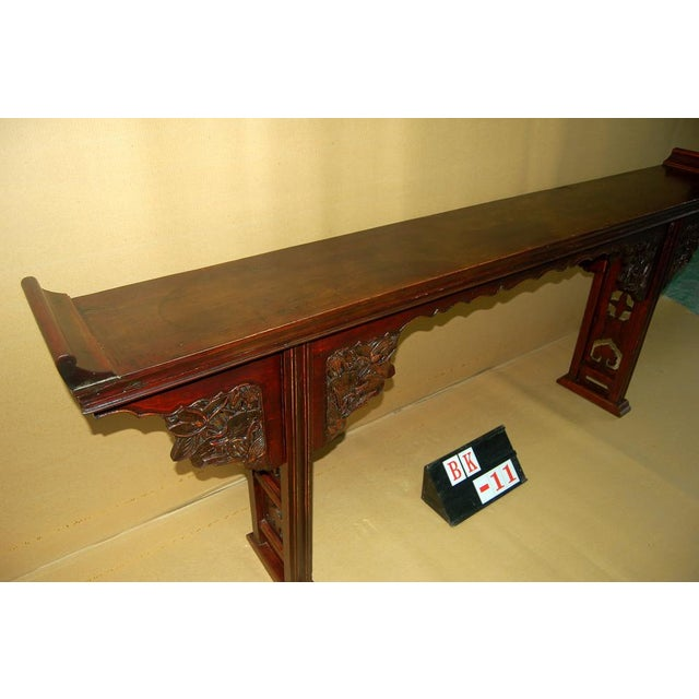Asian Antique Carved Altar Table - Image 5 of 7