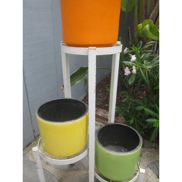 Modernist Plant Stand + California Pot Set Planter - Image 4 of 6