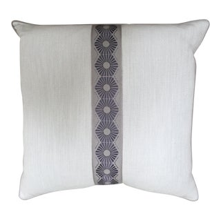 Powder Blue Chevron Weave Pillow