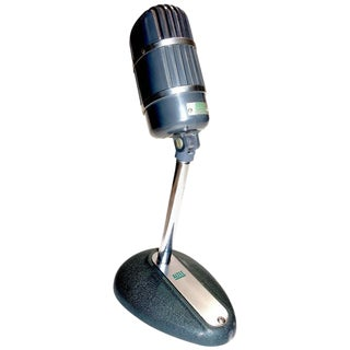 Altec Model 670-B Ribbon Studio Microphone with Rare Stand Circa 1950s