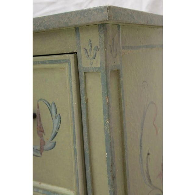 19th Century American Continental Green-Painted Chest - Image 3 of 9