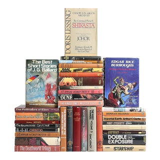 Mid-Century Sci-Fi & Fantasy Novels - Set of 35