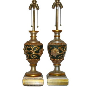 Marbro Carved Gilded Lamps