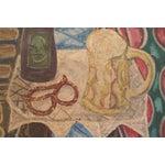 Image of Vintage Painting of Pretzel and Beer Mug