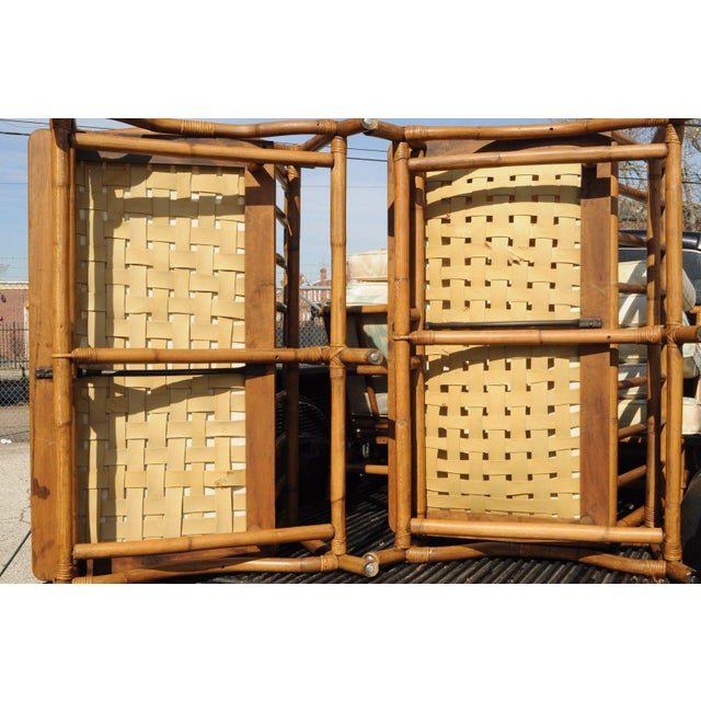 Mid Century Ficks Reed Rattan Tiki Sofa Set - Set of 5 - Image 2 of 11