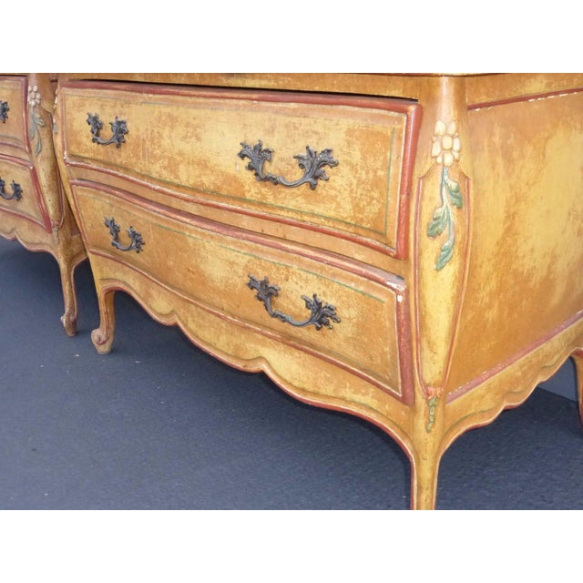 Vintage French Provincial Commode Nightstands - 2 - Image 9 of 11