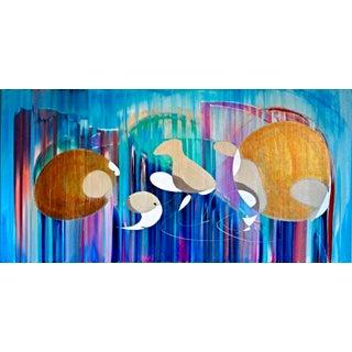 'Fish & Birds, Captiva' Acrylic Painting