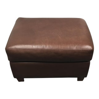 American Leather Chocolate Brown Ottoman