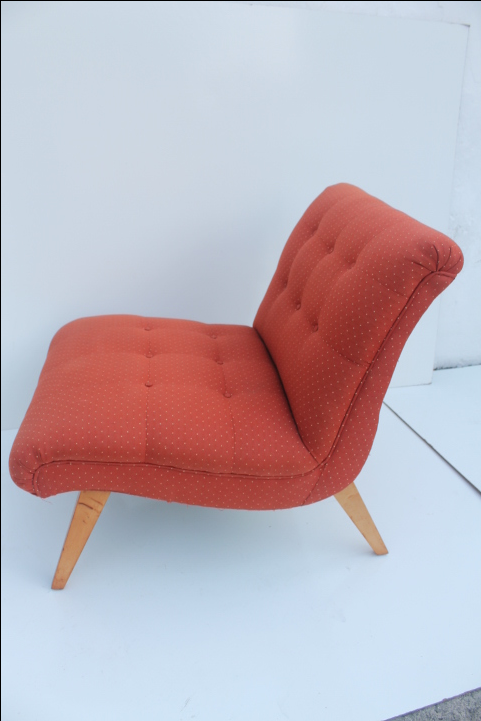 Jens Risom For Knoll Red Slipper Chair   Image 3 Of 11