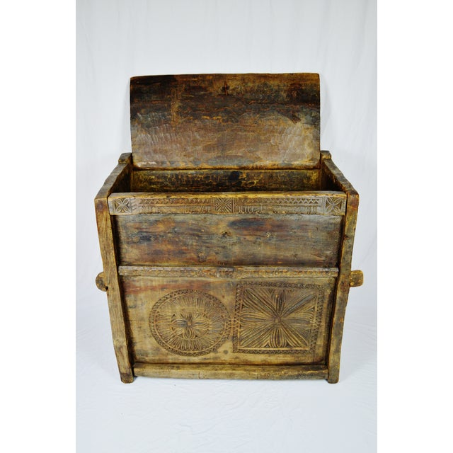 Ancient Kafiristan Wooden Dowry/Treasure Chest - Image 2 of 10