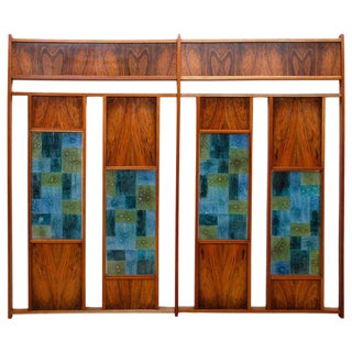 Hand Made Glass Tile Room Divider by Feders