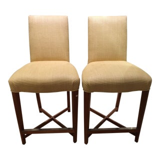 Donghia Beige Counter Stools - A Pair
