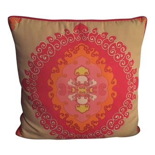 Trina Turk Schumacher Fabric Indoor/Outdoor Pillow
