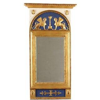 19th Century C Werné Norrtälje Empire Trumeau Mirror
