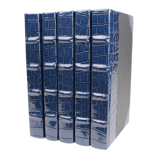 Exotic Collection Croc III Blue Books - Set of 5