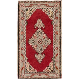 "Red Antique Oushak - 2'7"" X 4'6"""