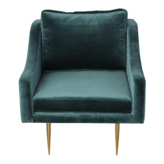 Mid-Century Modern Velvet Accent Chair