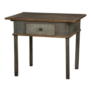 A workbench/writing table with the original painted finish having a single drawer from Germany c. 1790.