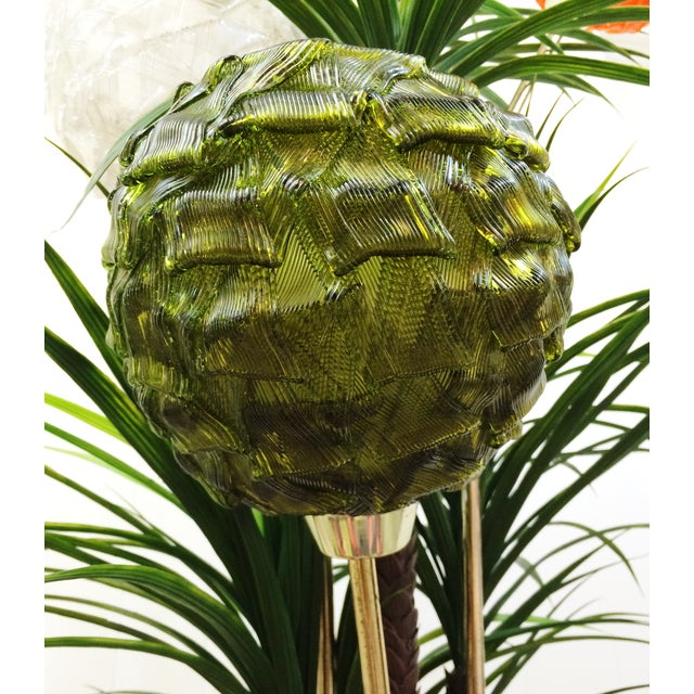 Mid Century Spaghetti Spun Lucite Palm Tree Lamp - Image 7 of 8